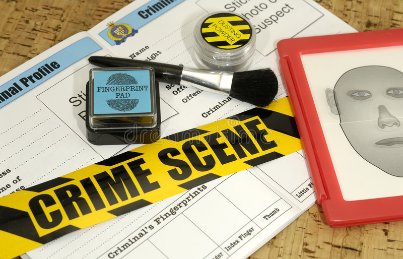 Crime Lab. Crime Scene Related Objects - Crime Lab Concept