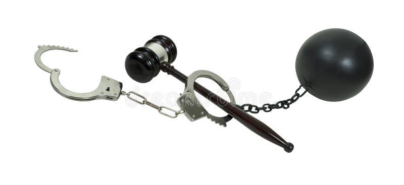 Crime, procédé permissible et conséquence images stock
