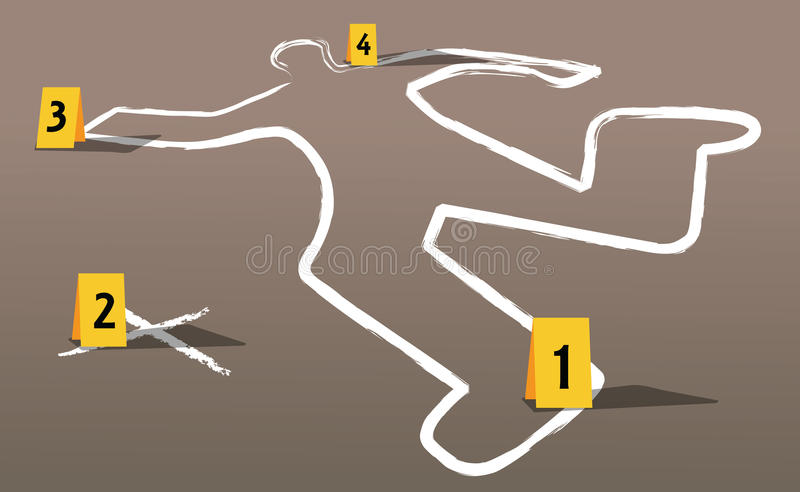 Download Crime scene vector stock vector. Image of cops, investigate - 25247286