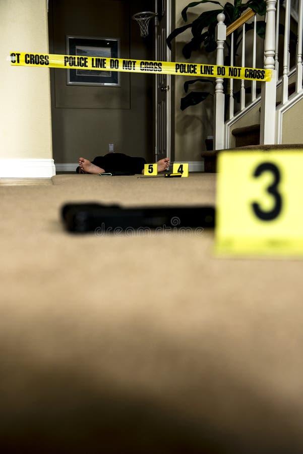 Crime scene stock image