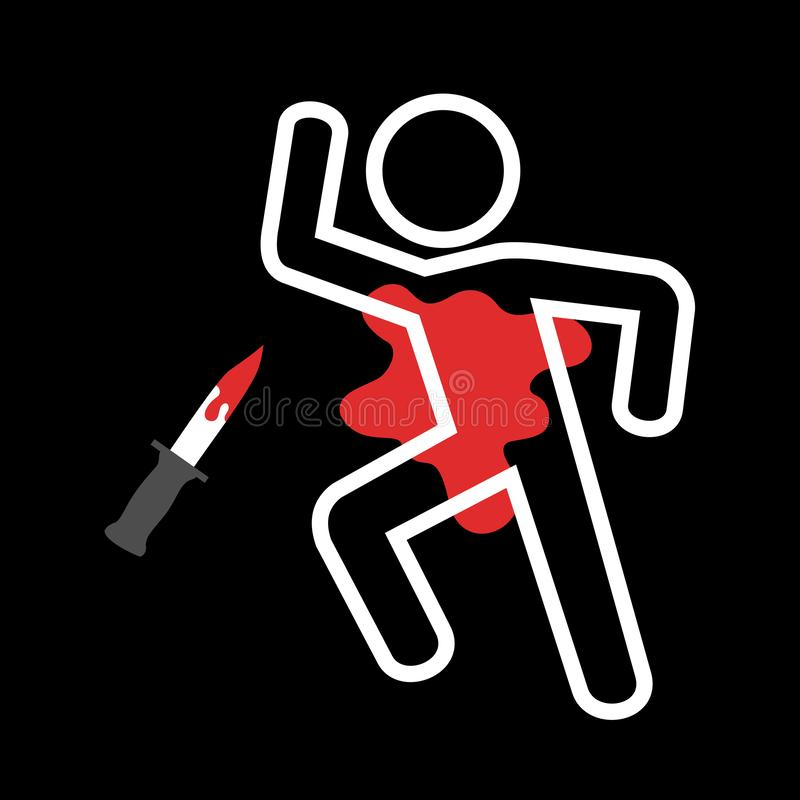 Free Crime Scene After Stabbing Royalty Free Stock Photography - 144300397