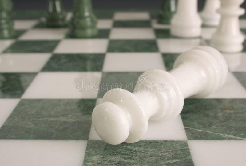 Crime scene - chessmate royalty free stock photo