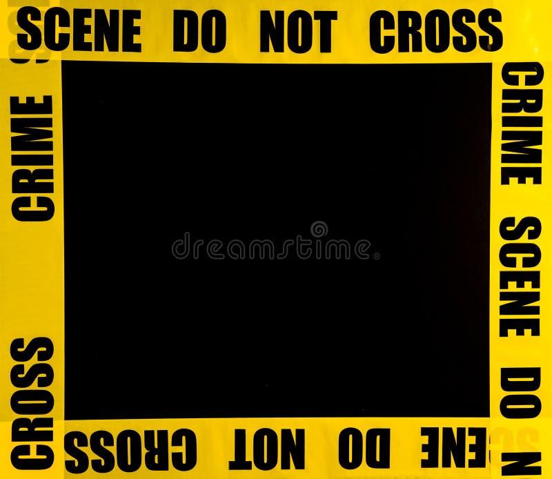 Crime scene frame. Or border royalty free stock photography
