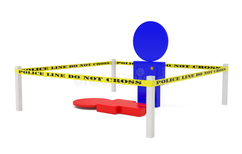 Download Crime Scene Isolated On White Stock Illustration - Image: 15653211