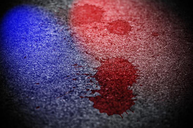 Crime scene. With stains of blood royalty free stock photo