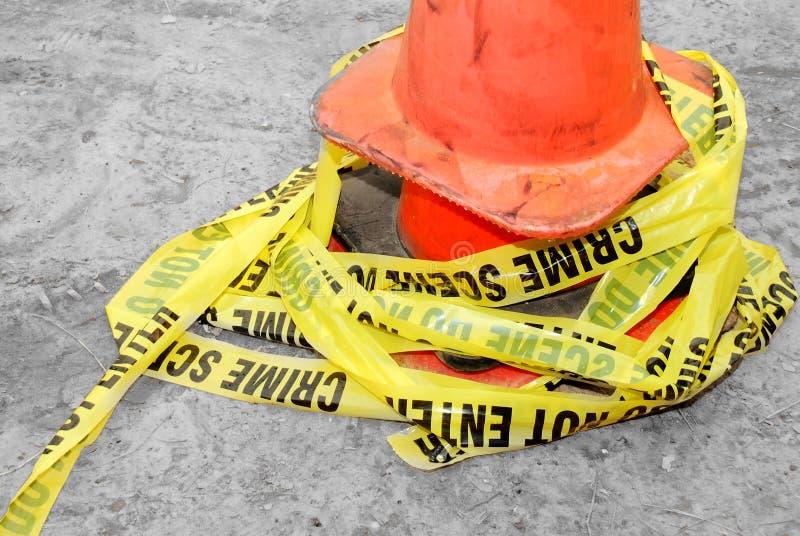 Crime scene tape stock image