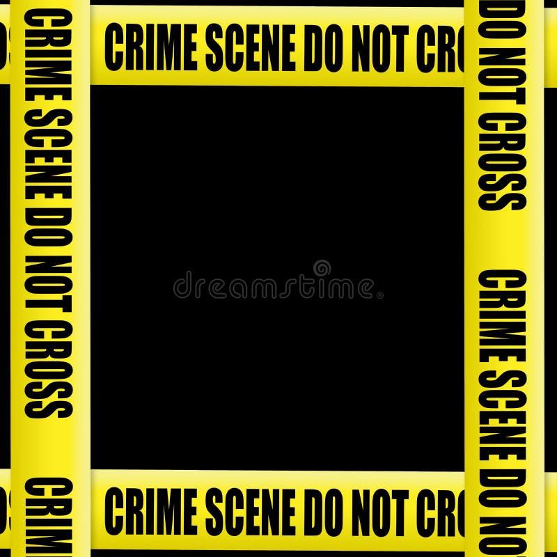 Crime scene tape frame stock illustration
