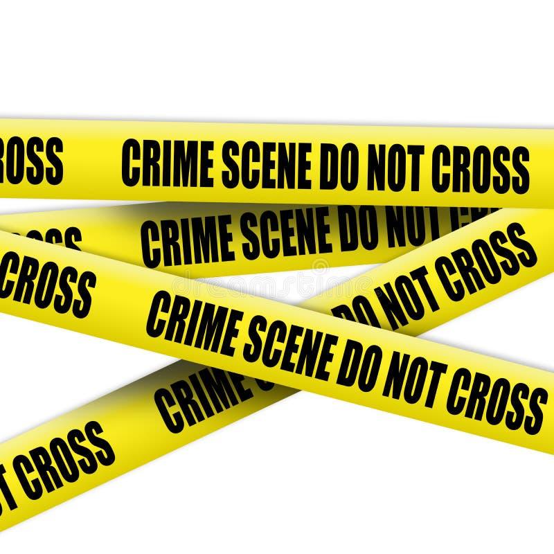 Crime scene tape stock photography