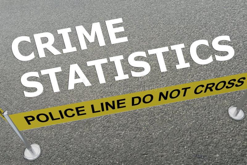 Crime Statistics concept royalty free illustration