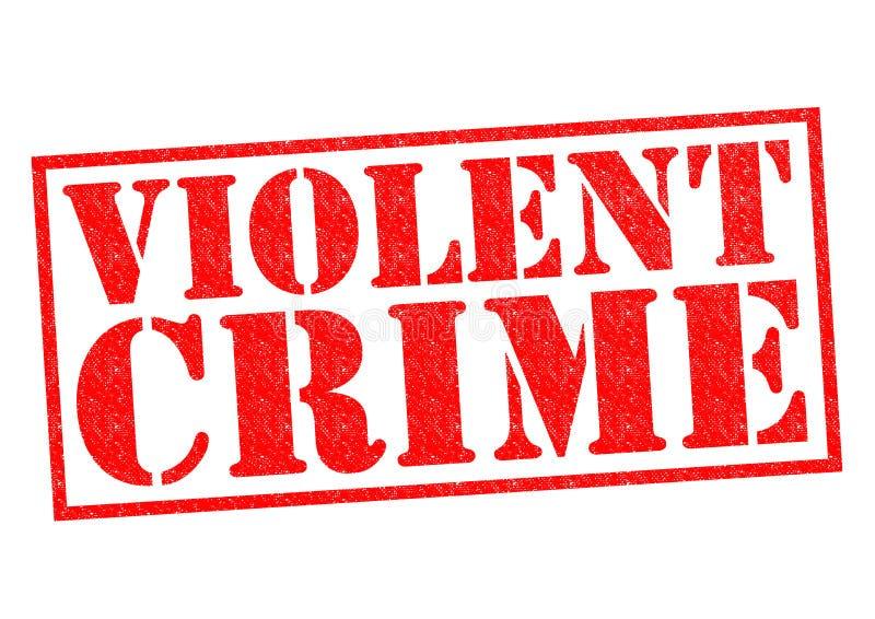 CRIME VIOLENTO ilustração stock