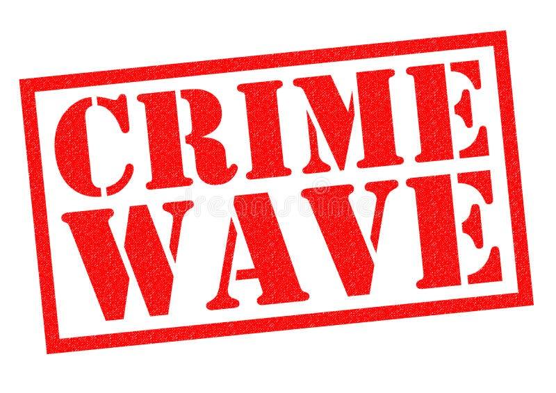 CRIME WAVE stock illustration