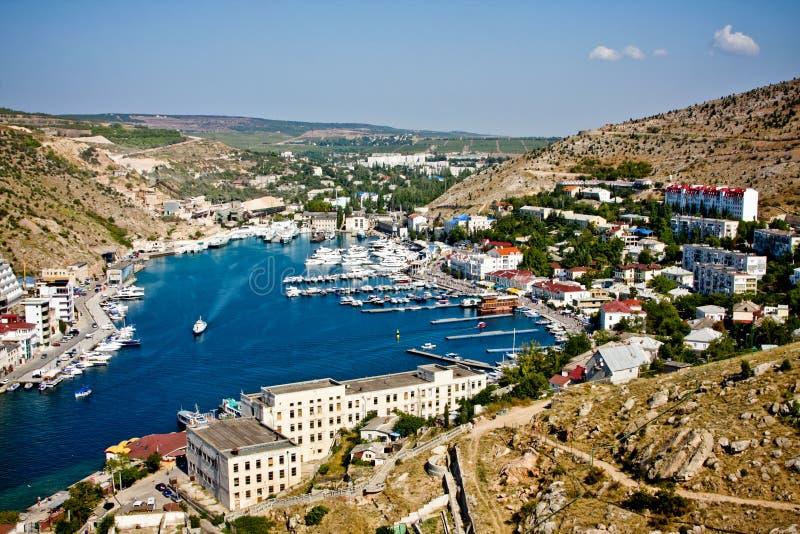 Crimea, bahía de Balaklava foto de archivo libre de regalías