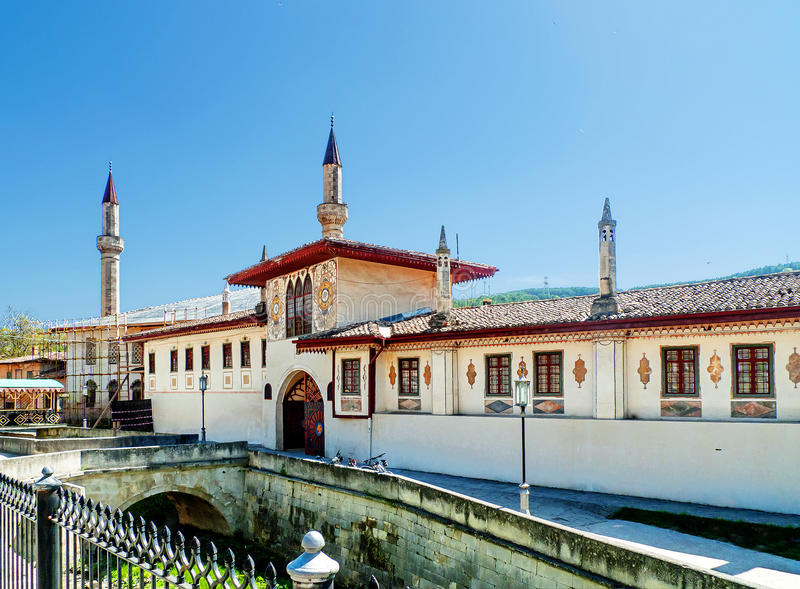 Crimea. Bakhchisarai. The Khan& x27;s Palace. Bakhchisaray is a city that can rightly be called one of the most picturesque in the Crimea, where the narrow royalty free stock photography