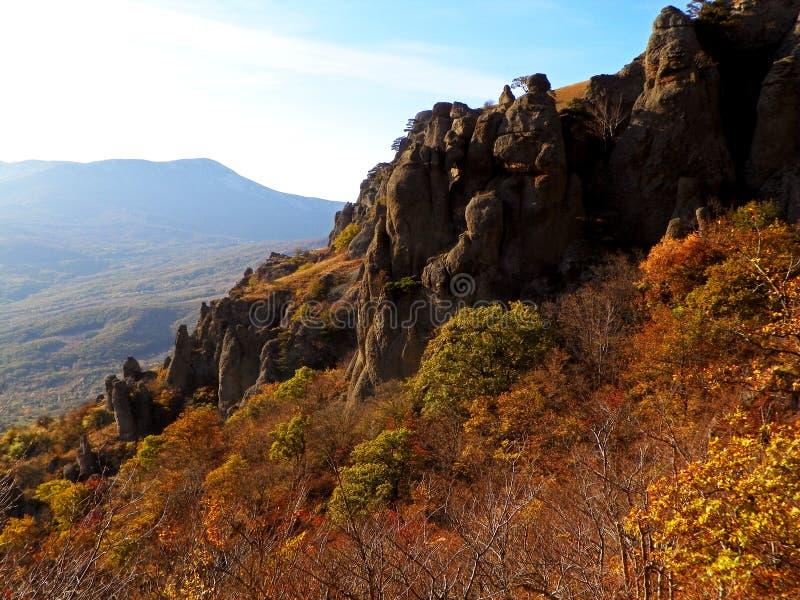 Crimea cliffs royalty free stock photography