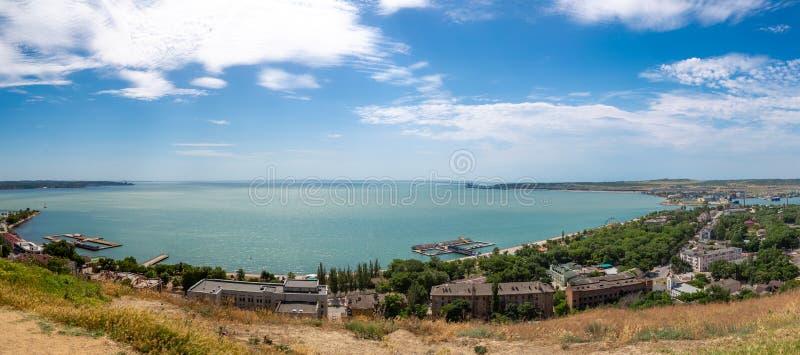 Crimea, Crimean bridge, Crimean Strait stock photography