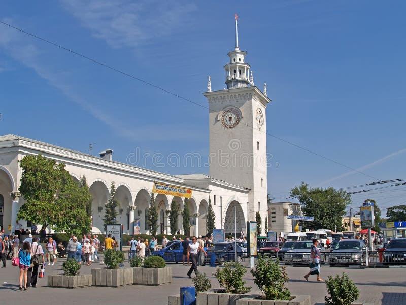 crimea El ferrocarril en Simferopol imagen de archivo