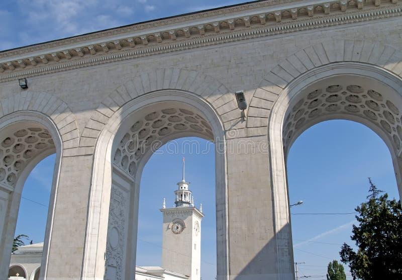 crimea El ferrocarril en Simferopol fotografía de archivo libre de regalías