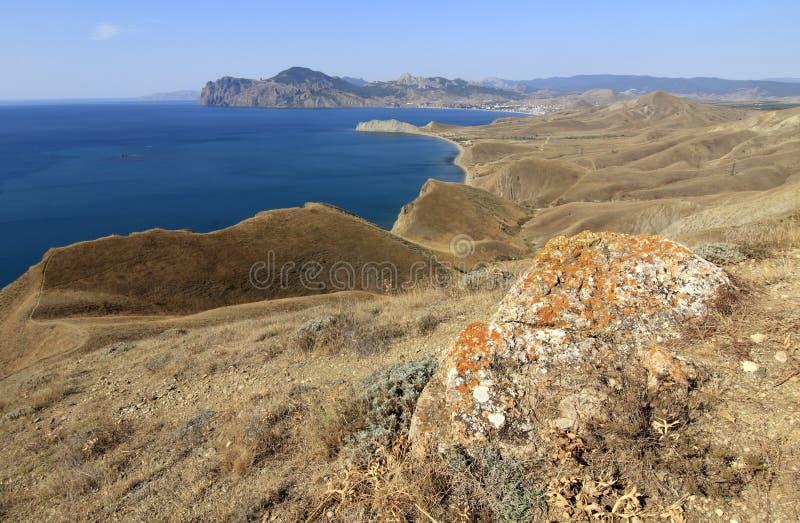 The Crimea mountains in autumn stock image