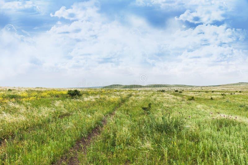 Crimea nature reserve - the road to travel. Landscape park- Kerch peninsula. Nature reserve - the road to travel. Hiking historical places Crimea. Landscape park stock photo