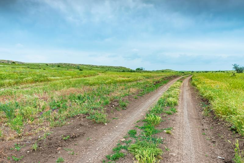 Crimea nature reserve - the road to travel. Landscape park- Kerch peninsula. Nature reserve - the road to travel. Hiking historical places Crimea. Landscape park stock images