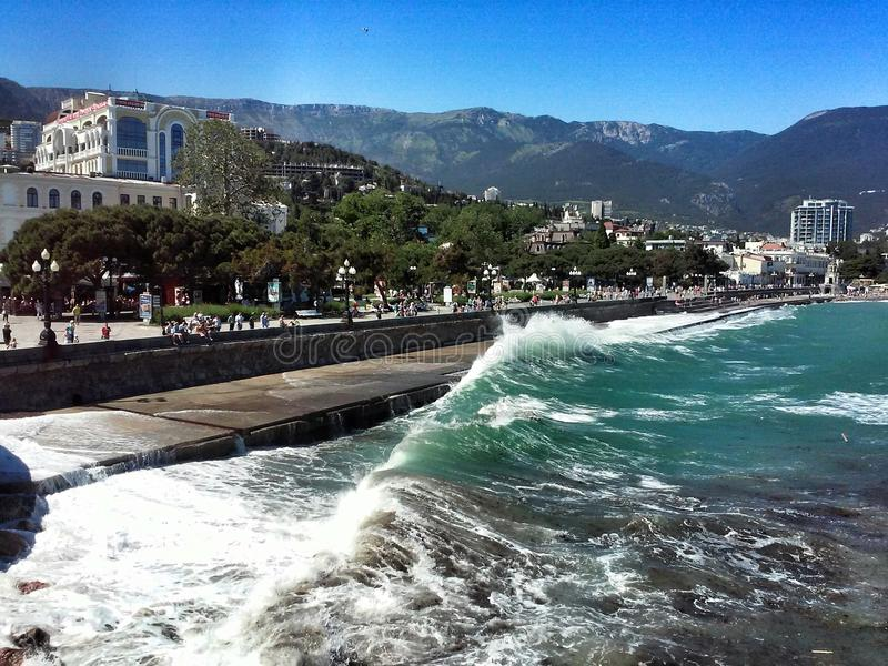 Crimea plaża Czarny morze obrazy stock