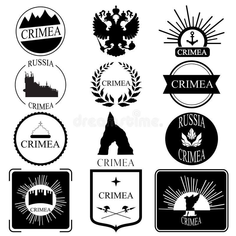 Download Crimea Retro Rocznik Insygnie, Logotypy Ustawiający Lub Projekt Ilustracja Wektor - Ilustracja złożonej z granica, tło: 53790591