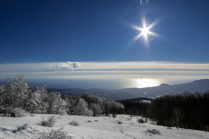 crimea vinter royaltyfria bilder