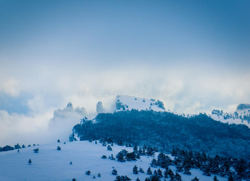 Crimea. Winter day in the mountains of Crimea, Ukraine royalty free stock image
