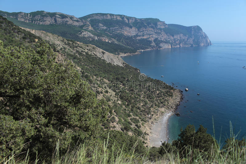 Crimean coastline stock photo