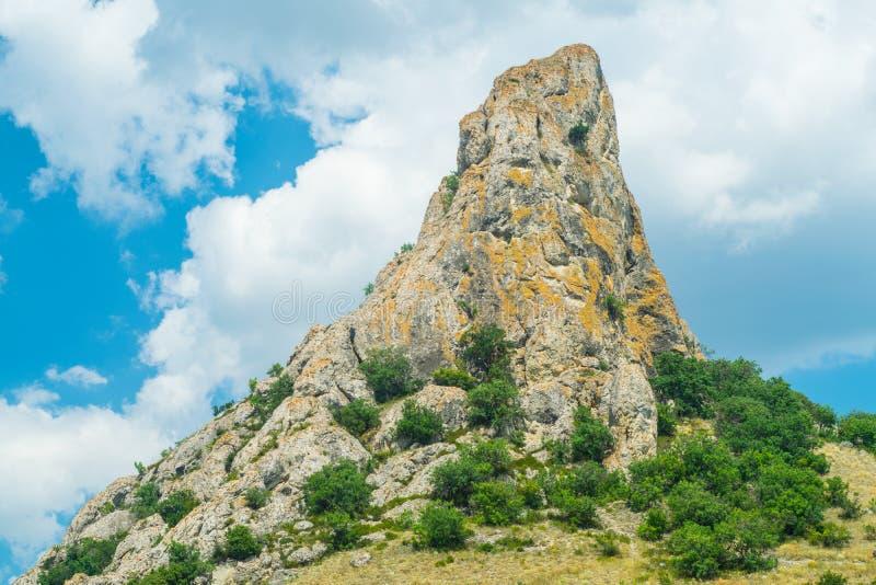 Crimean landscape - Honey mountain stock image