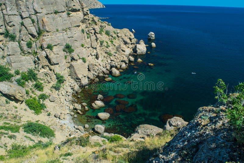Crimean landscape - Meganom bay royalty free stock photo