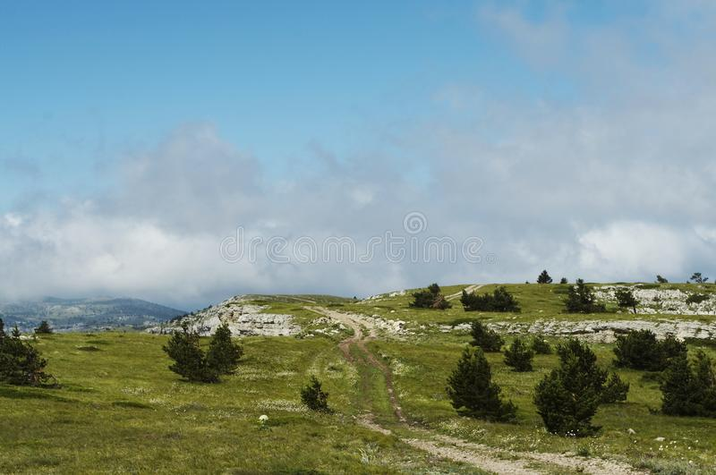 Crimean mountain. In summer season stock photography