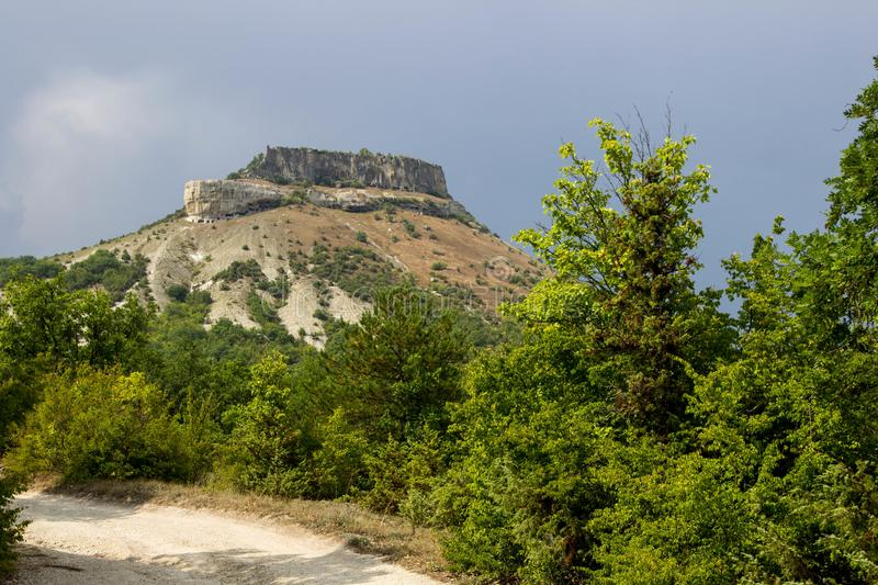 Beautiful view of the mountains of Bakhchisarai. In the Crimea royalty free stock images