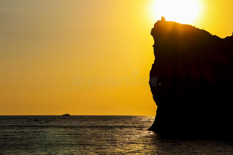 Crimean sunset royalty free stock images