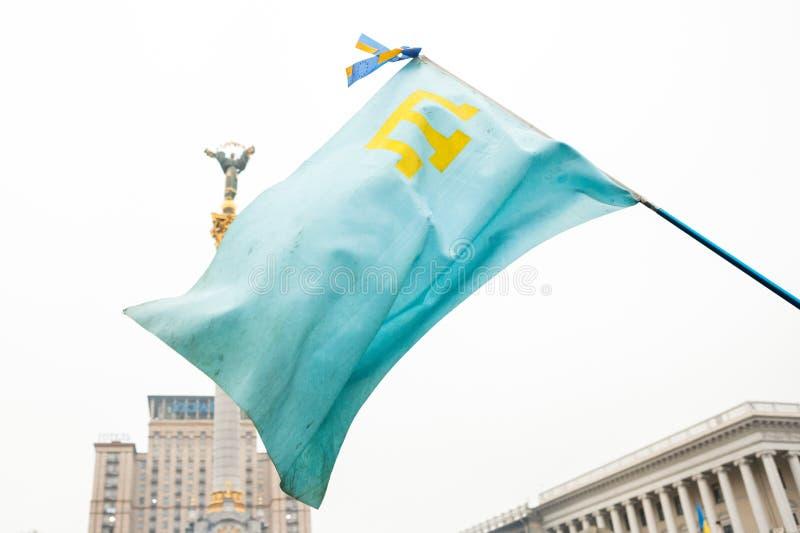 Crimean Tatar the national flag royalty free stock photos