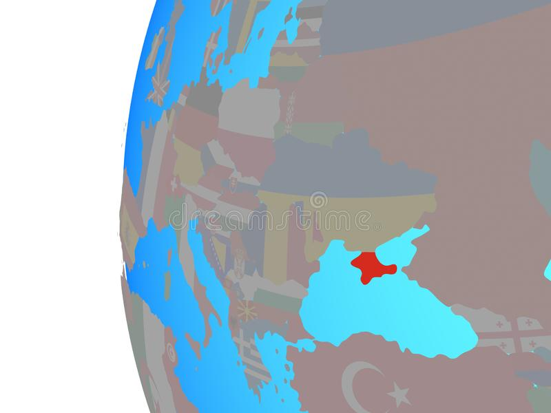 Crimeia com a bandeira no globo ilustração royalty free