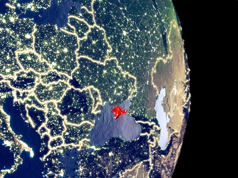 Crimeia na terra da noite ilustração stock