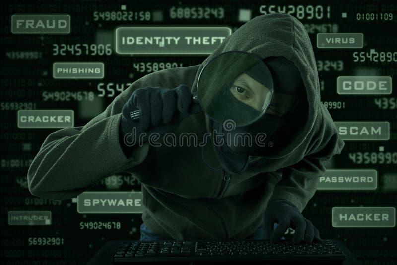 Crimen del Spyware foto de archivo libre de regalías