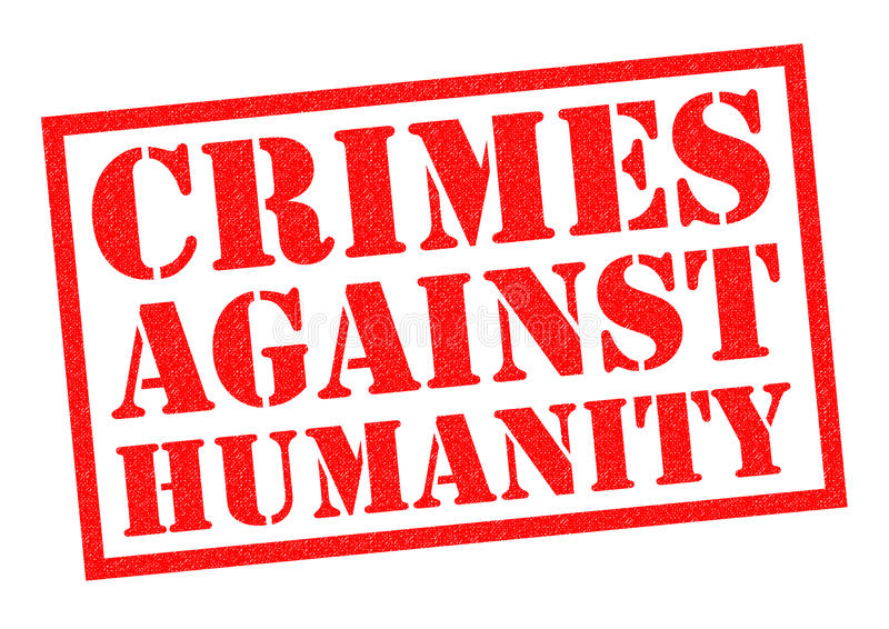 CRIMES CONTRE L'HUMANITÉ illustration de vecteur