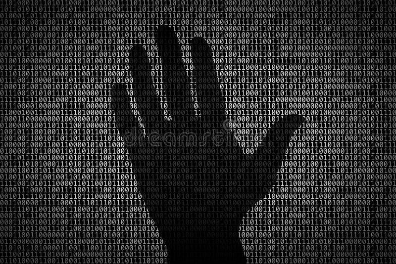 Crimes par l'Internet illustration libre de droits