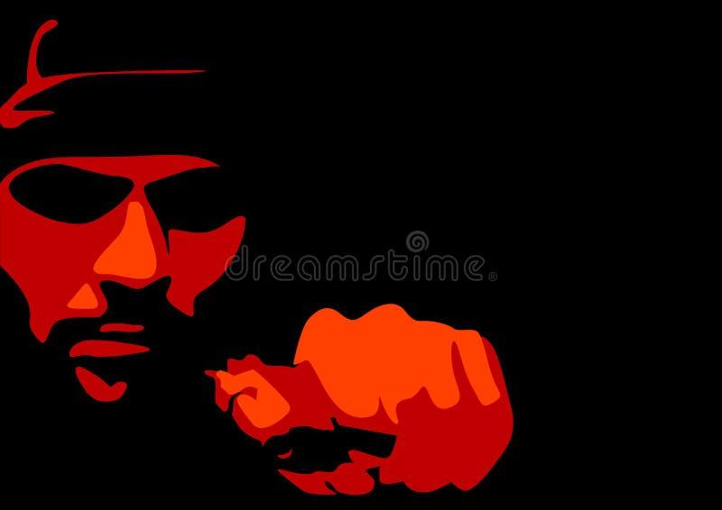 Criminal. Abstract vector of a criminal vector illustration