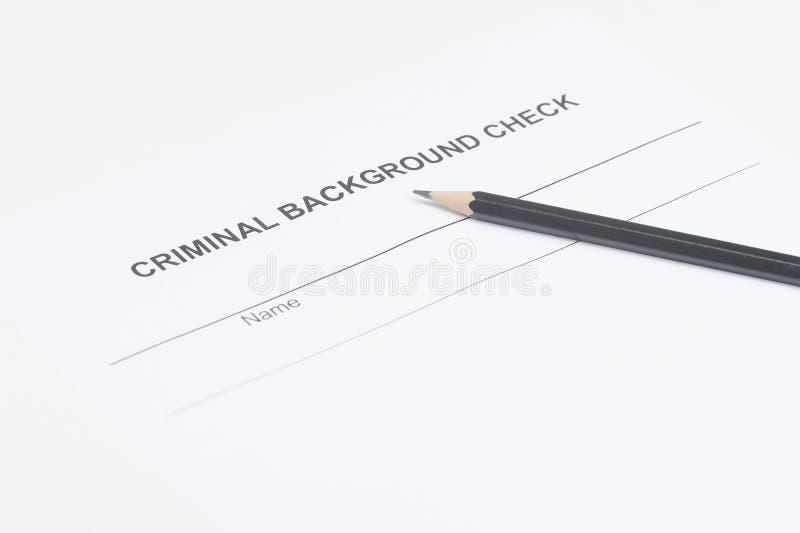 Download Criminal Background Check. Close-up Of Criminal Background Check Royalty Free Stock Image - Image: 32456466