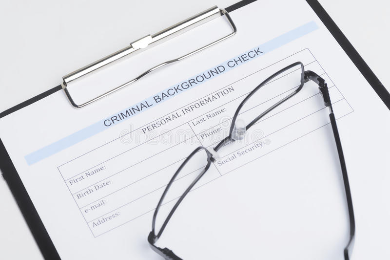 Download Criminal Background Check Document. Close-up Of Criminal Backgro Stock Image - Image of up, check: 32456475