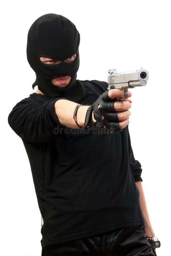 Download Criminal in black mask stock image. Image of kill, gangster - 9717791