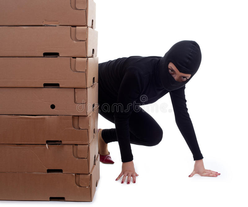 Download Criminal with boxes stock image. Image of robbed, illegal - 16097733