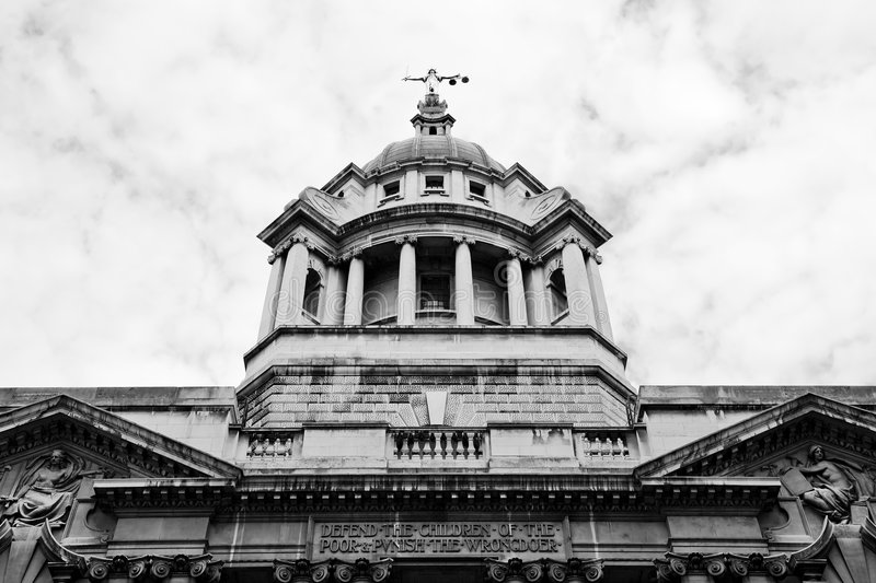 Criminal Courts, London UK. Court of Justice or Criminal Courts, The Old Bailey, London, England UK stock photo