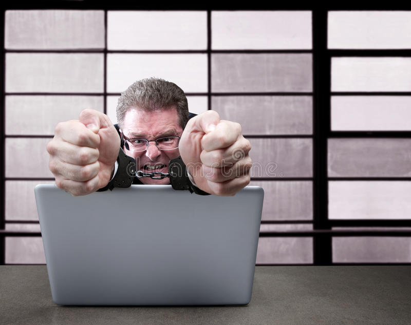 Criminal de ordenador fotografía de archivo