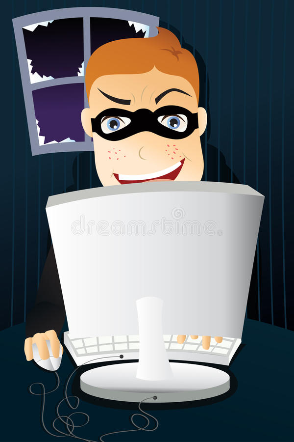Criminal de ordenador libre illustration