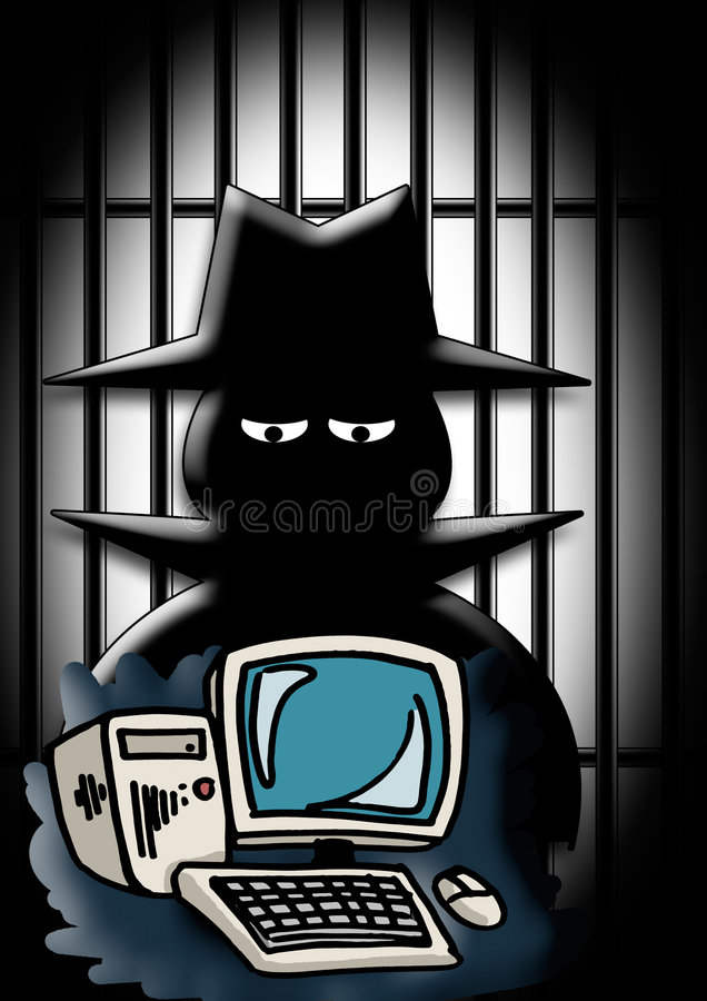 Criminal de ordenador imágenes de archivo libres de regalías