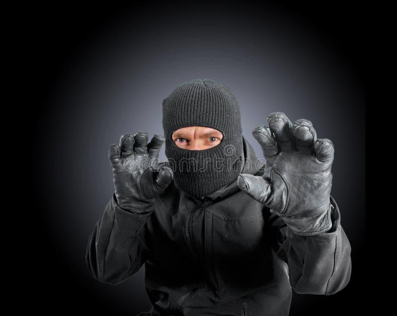 Criminal enmascarado fotografía de archivo libre de regalías